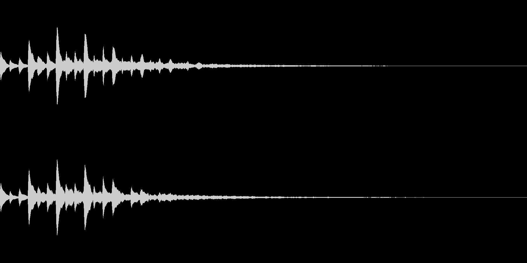 宇宙っぽいサウンドロゴ01の未再生の波形