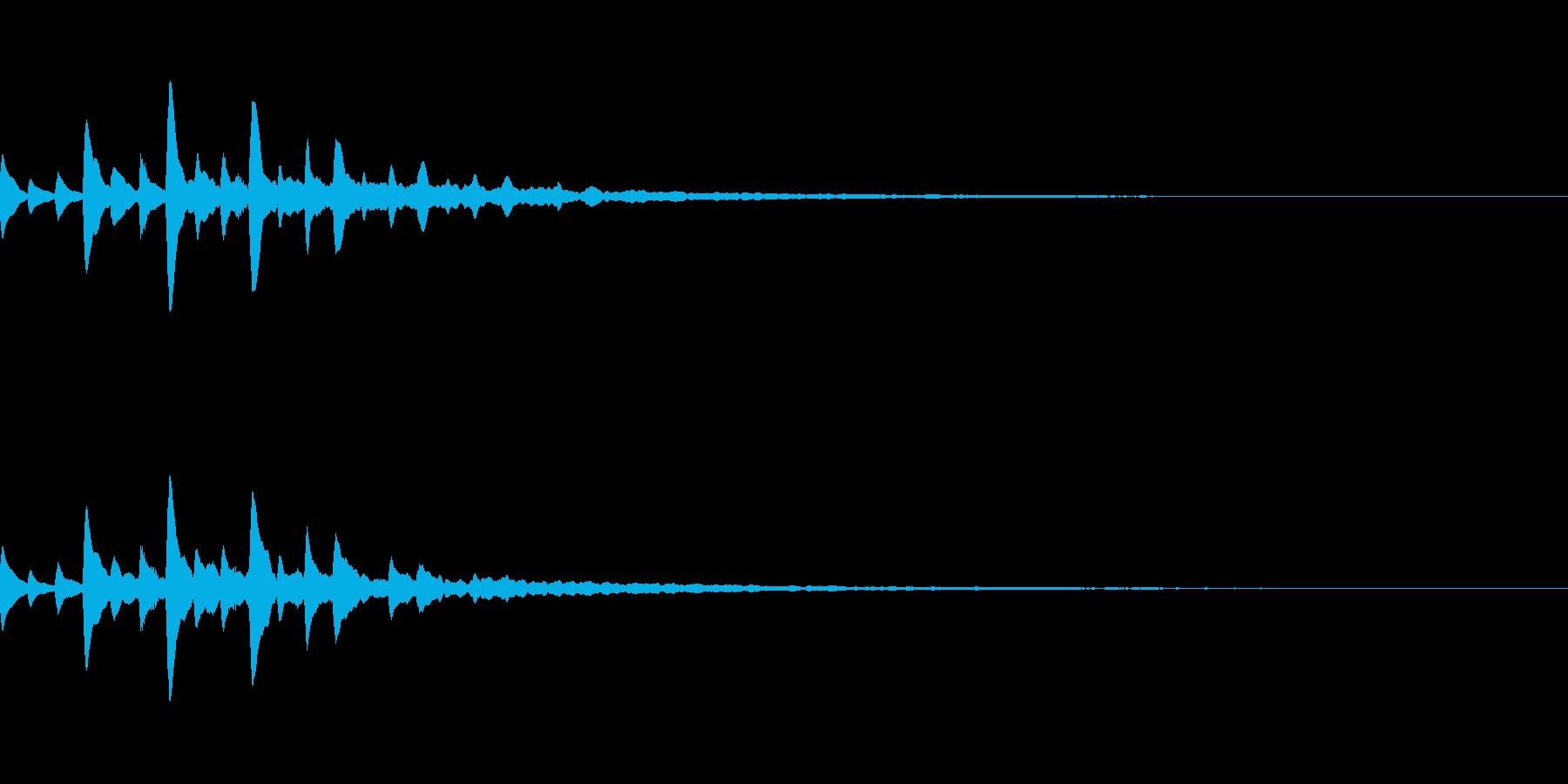 宇宙っぽいサウンドロゴ01の再生済みの波形
