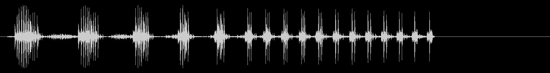 邪悪なロボットの笑い;奇妙な低音の...の未再生の波形