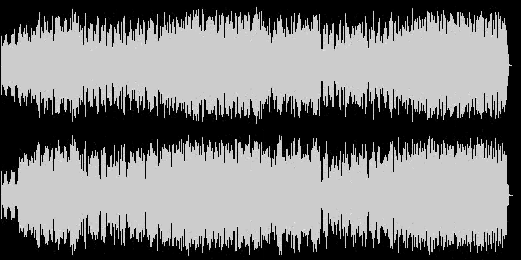 疾走感のあるロックとコミカルな曲のコラボの未再生の波形