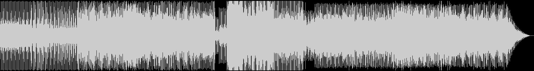 淡々と無機質なテクノサウンドの未再生の波形