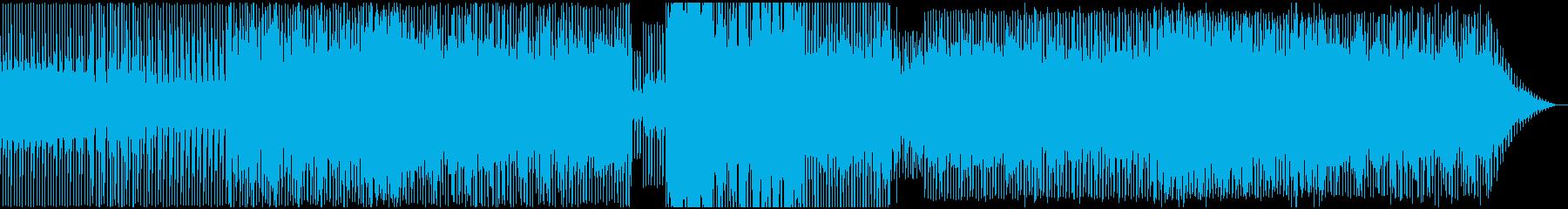 淡々と無機質なテクノサウンドの再生済みの波形