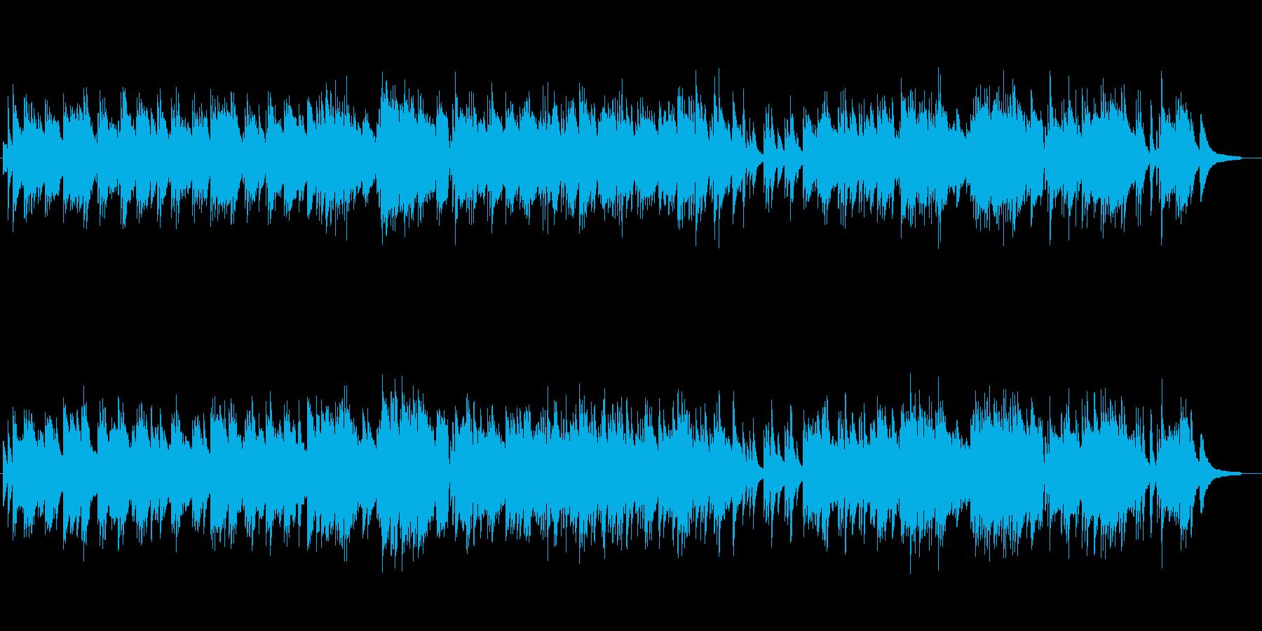 和の気配を感じさせるピアノ曲の再生済みの波形