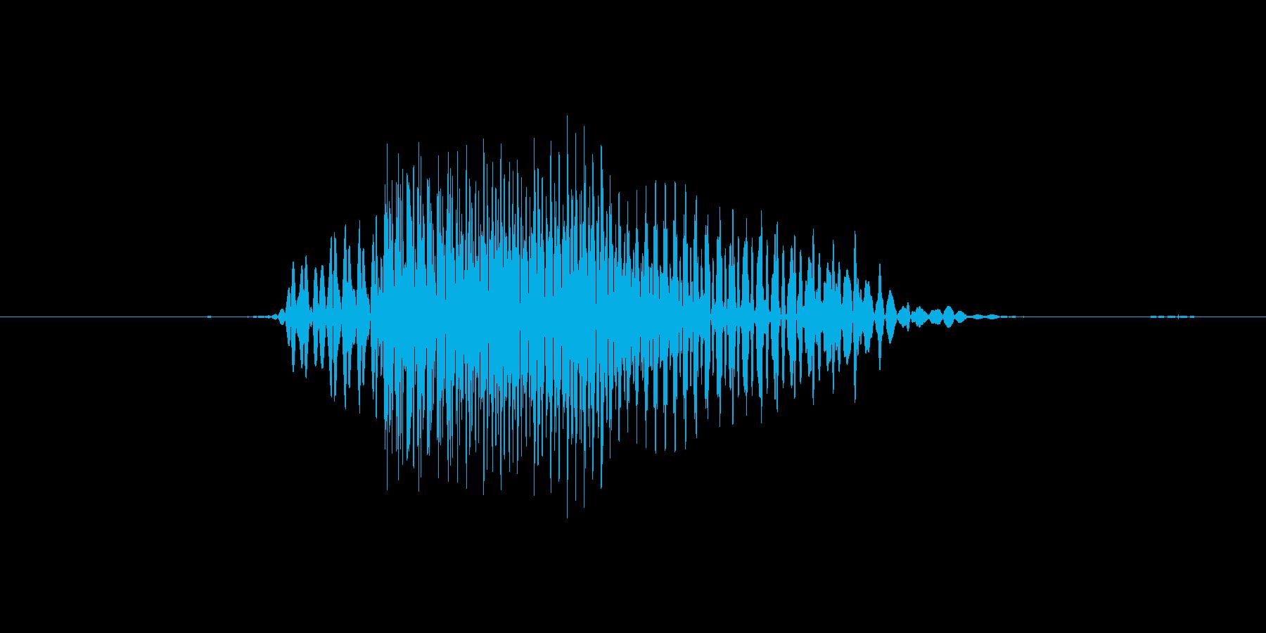 No (発音:ノー, のー、意味:いい…の再生済みの波形