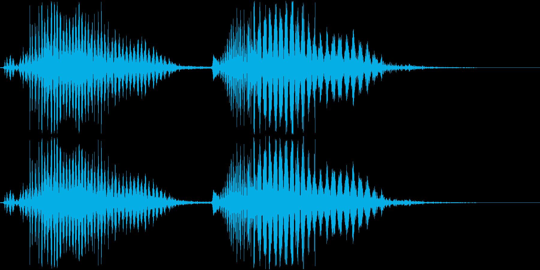 鳴き声03(空飛ぶモンスター系)の再生済みの波形