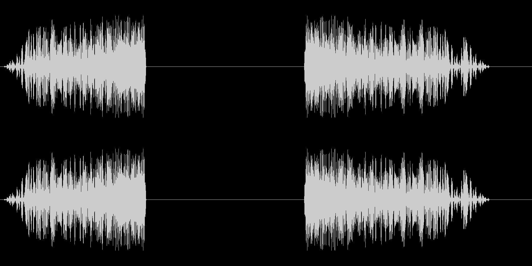 シュイビシューン(風の音)停止ありの未再生の波形