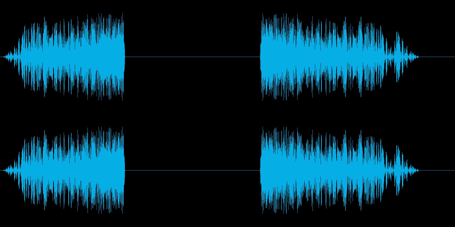 シュイビシューン(風の音)停止ありの再生済みの波形