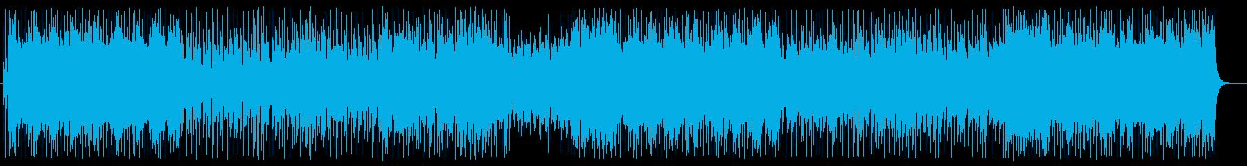 軽快で爽快なフュージョンポップの再生済みの波形