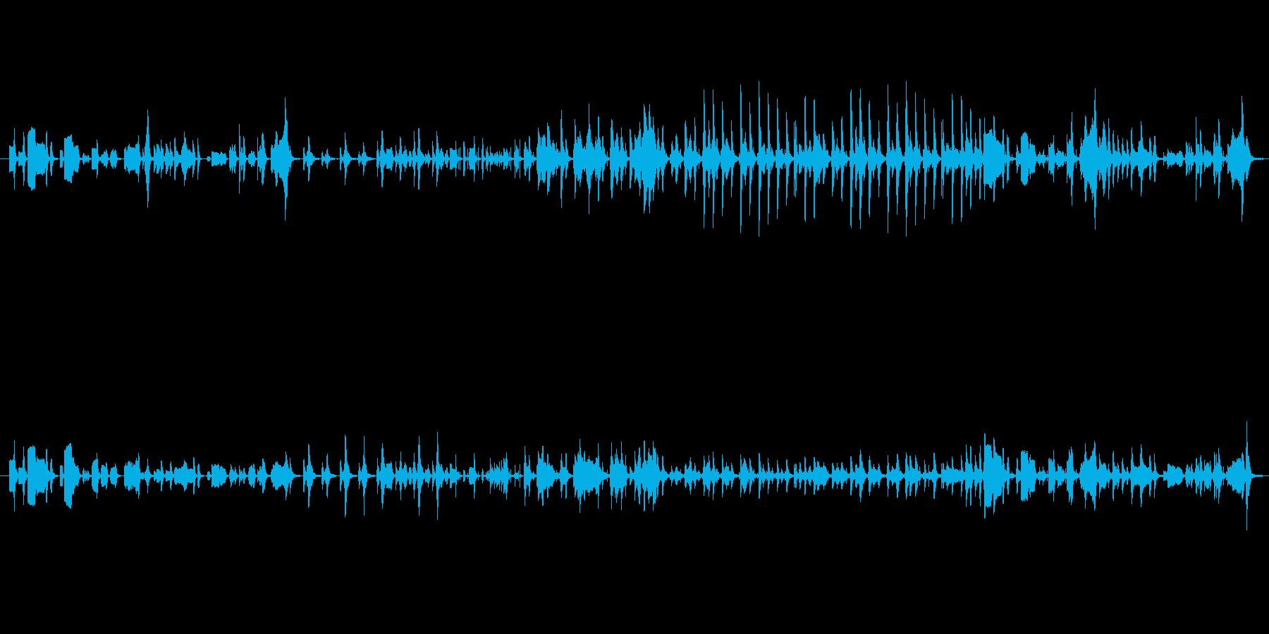 ひっそりしたミステリアスなメロディーの再生済みの波形