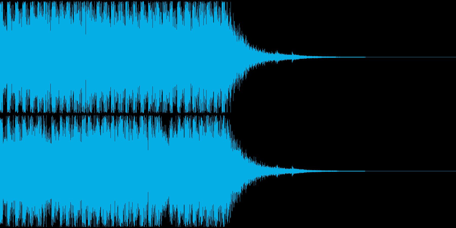 軽い発砲音の連写(マガジンの音)の再生済みの波形