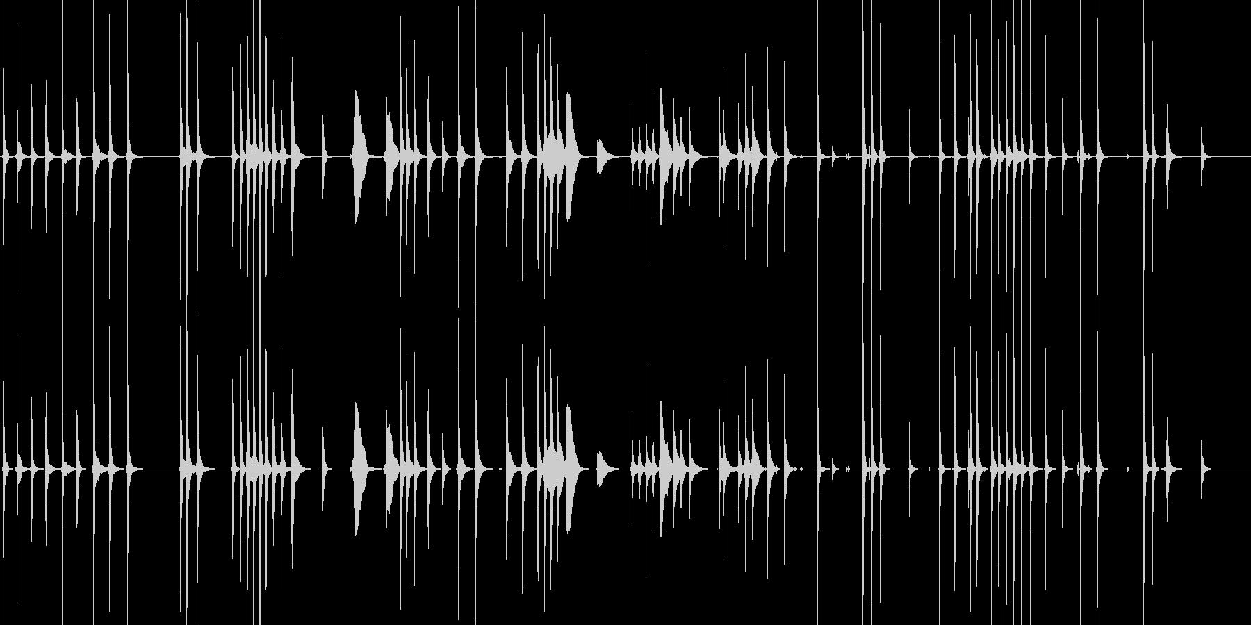 三味線133鷺娘31死ぬ合方長い方妖怪鷺の未再生の波形