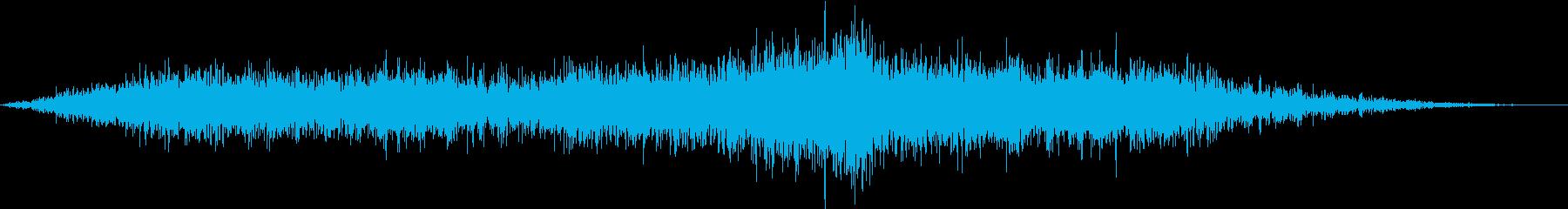 小型旅客機の離陸(滑走路の始まり)の再生済みの波形