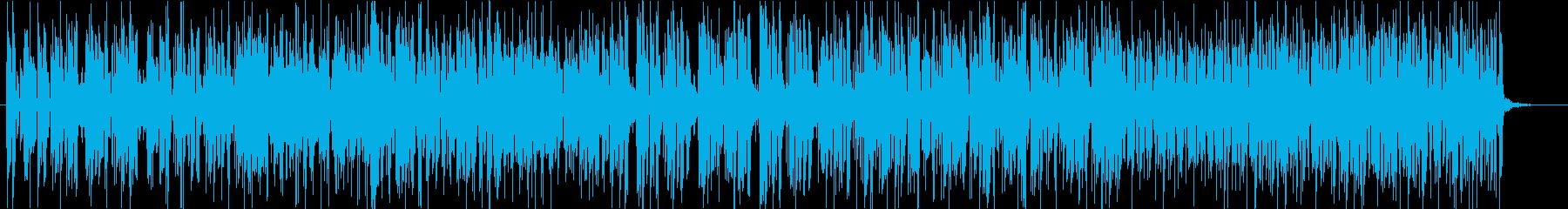 ジャジーなギターインストの再生済みの波形