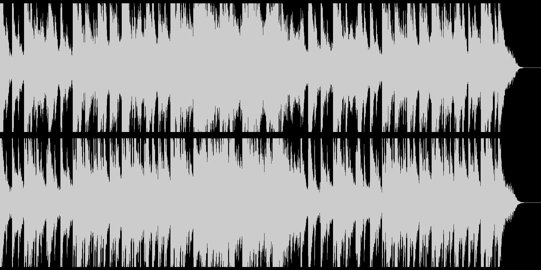 静かな癒しのピアノとシンセサイザーの未再生の波形