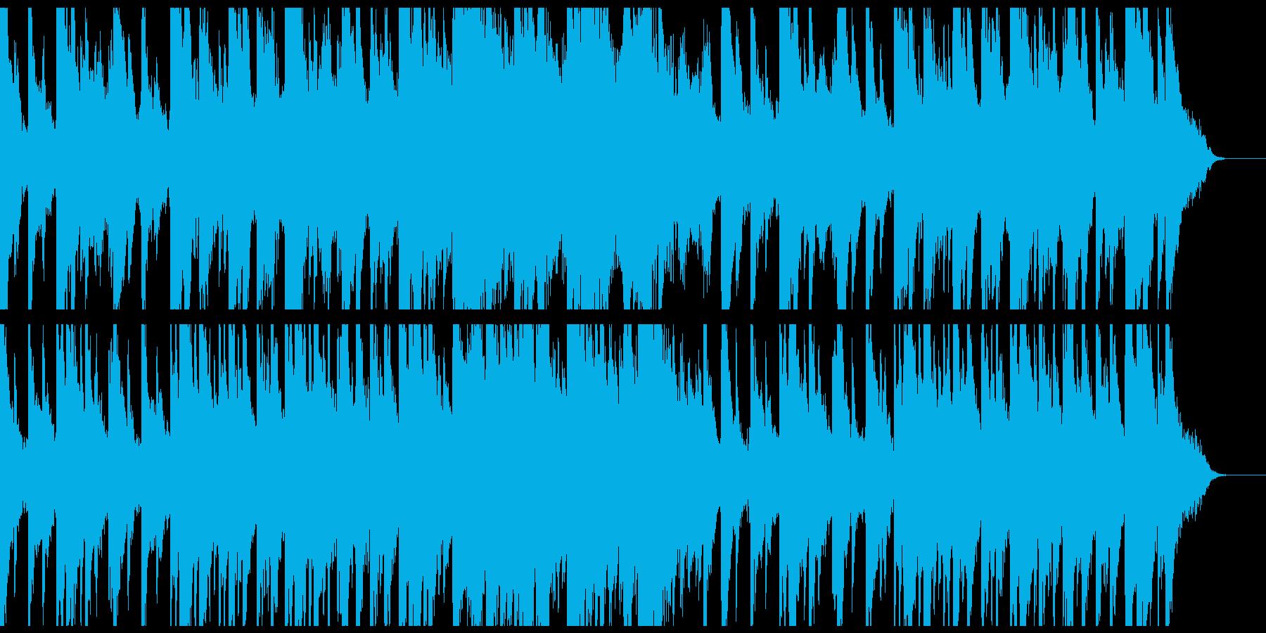 静かな癒しのピアノとシンセサイザーの再生済みの波形