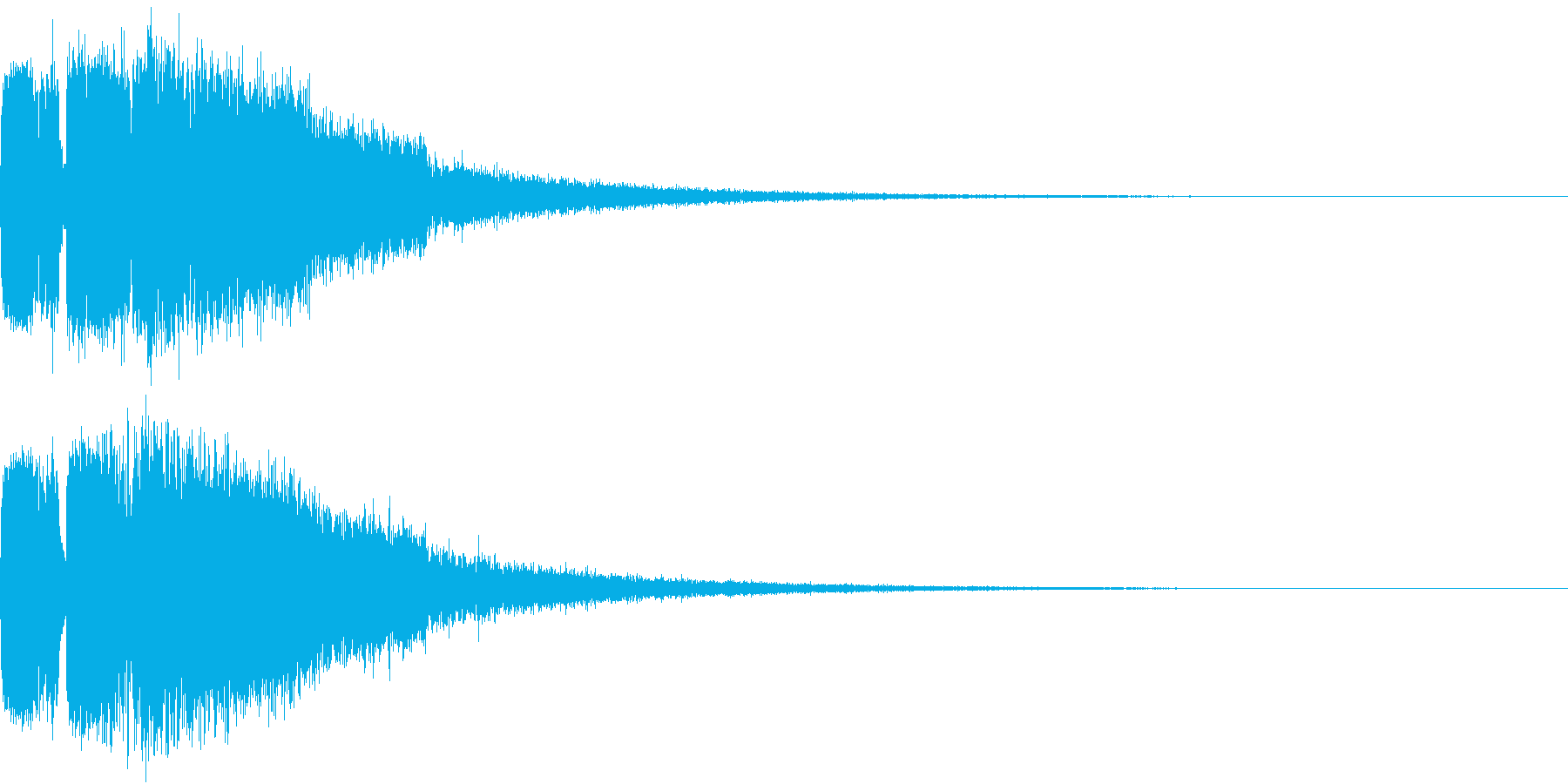 ピコピコ キューン ヒューン シューンCの再生済みの波形