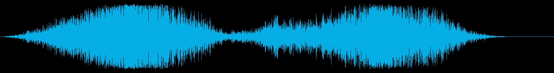 ボーイング飛行機離陸の再生済みの波形