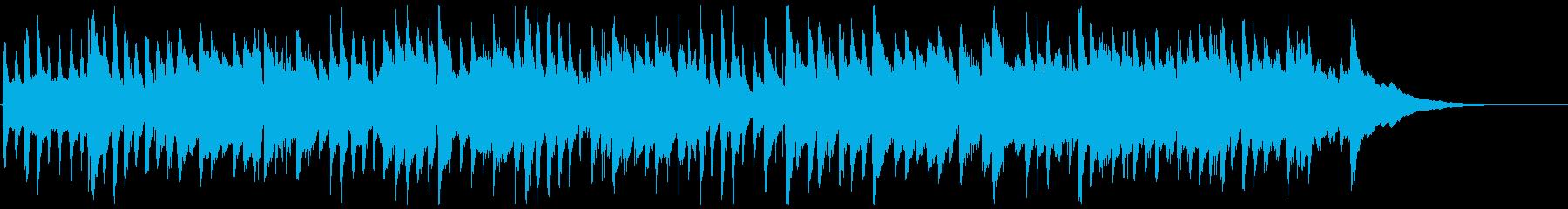 生演奏癒しのアコースティックギター曲の再生済みの波形