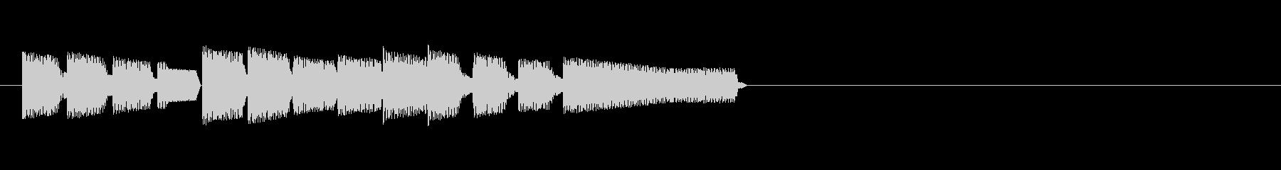 レトロゲーム・和風のジングル2の未再生の波形