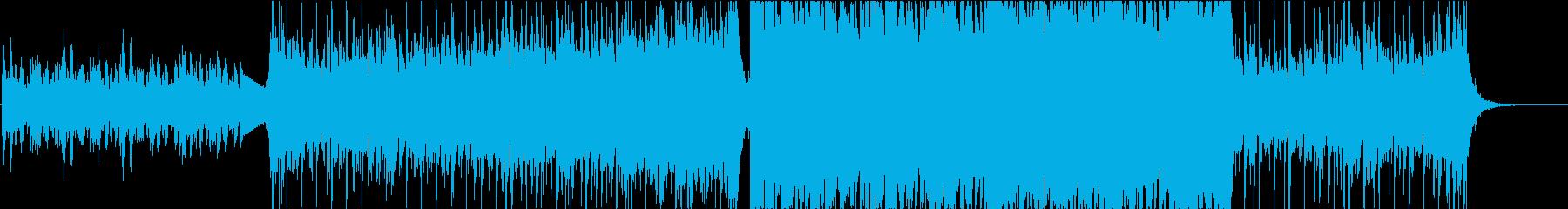 壮大なエピック系ボス登場曲の再生済みの波形