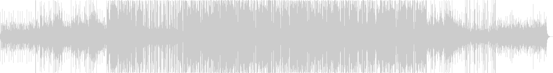 幻想的な旋律のエレキ音の未再生の波形