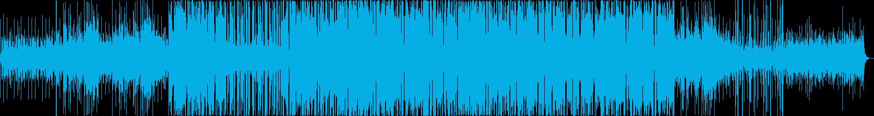 幻想的な旋律のエレキ音の再生済みの波形