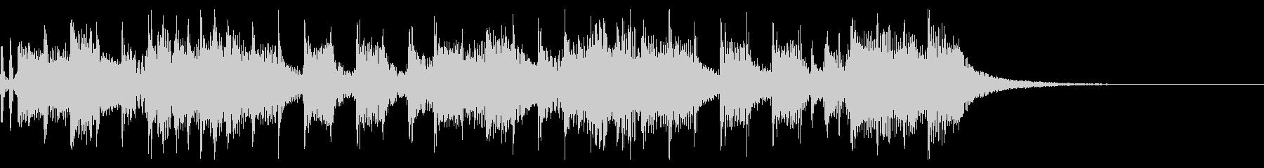 インパクトあるロックなジングル26の未再生の波形