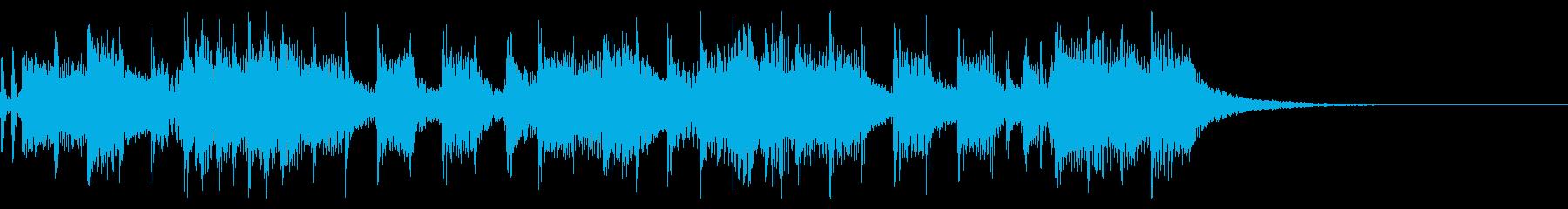 インパクトあるロックなジングル26の再生済みの波形
