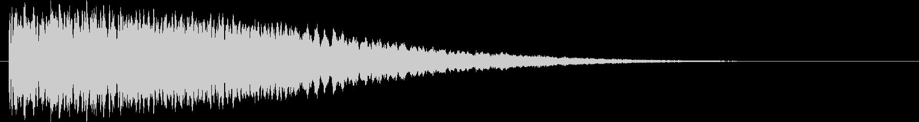UFO 流星 キラキラ 下降音の未再生の波形