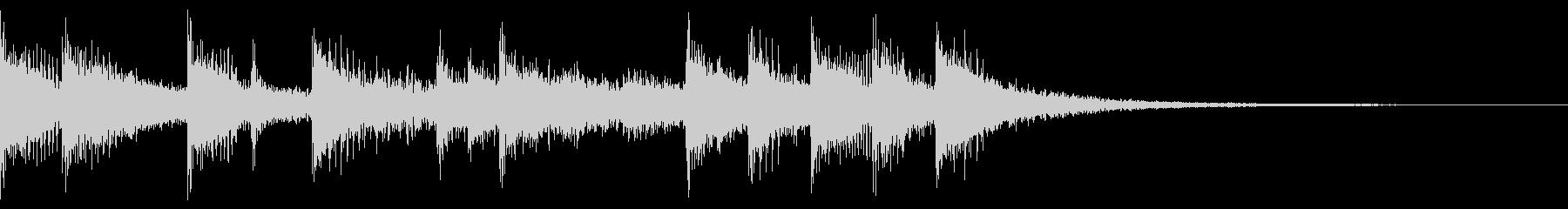 木琴メインの元気なジングル ニュース風の未再生の波形