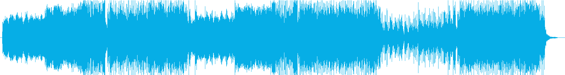 テクノ BGMの再生済みの波形