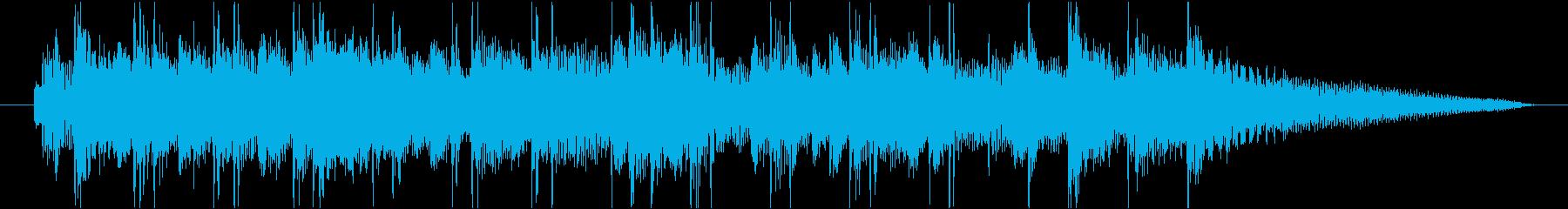 シンプルでおしゃれなボサノヴァ ジングルの再生済みの波形