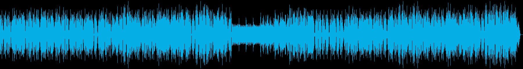 現代アートのような無機質BGMの再生済みの波形