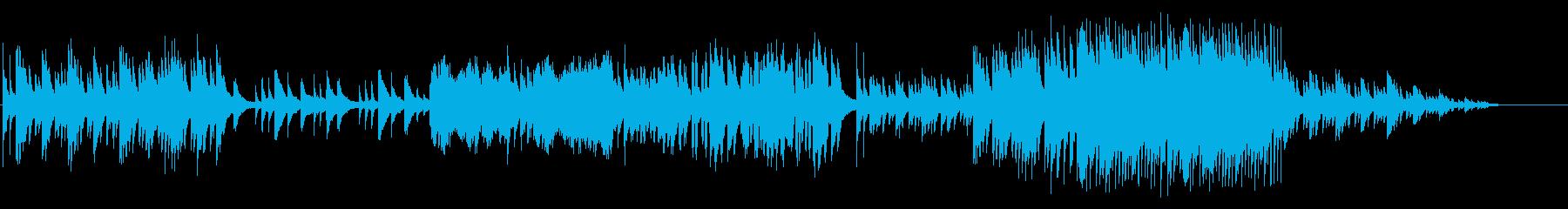 優しい雰囲気なピアノソロの再生済みの波形