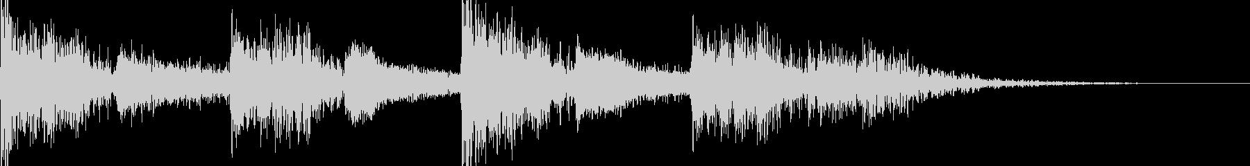 映画のトレーラー風 ドラムの未再生の波形