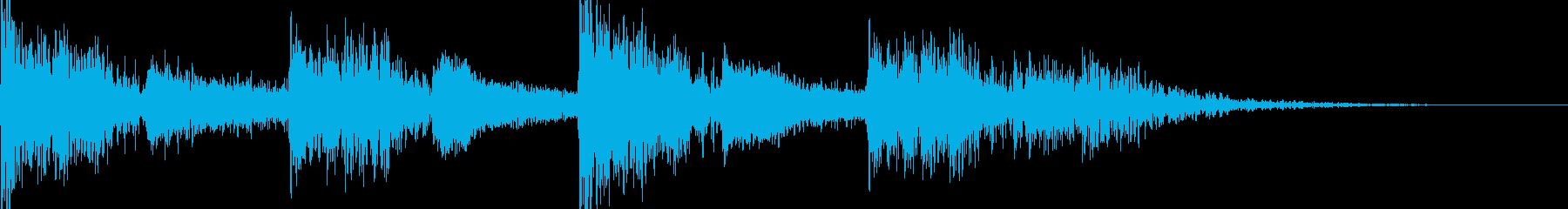 映画のトレーラー風 ドラムの再生済みの波形