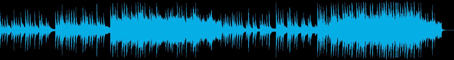 哀愁漂う旋律のドラマティックなピアノ曲の再生済みの波形