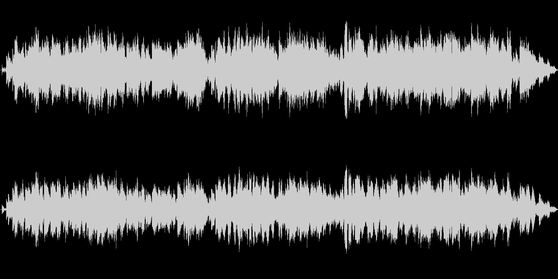 バスクラリネットとシンセのジングルの未再生の波形