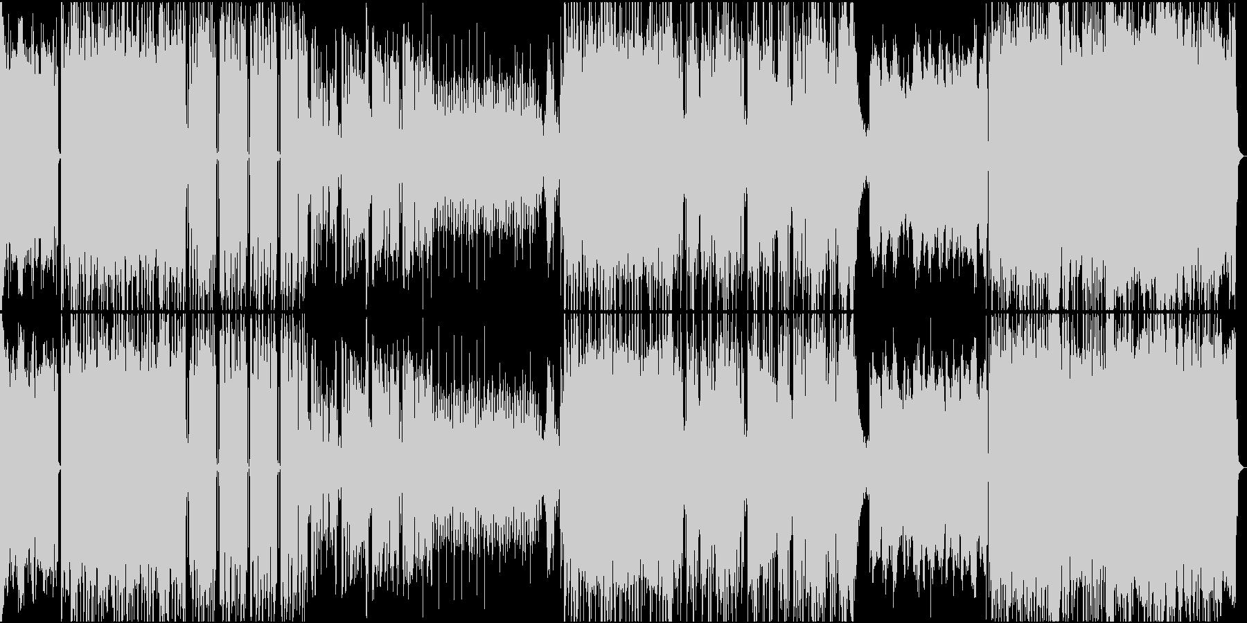 ロックテイストなトラップビートの未再生の波形