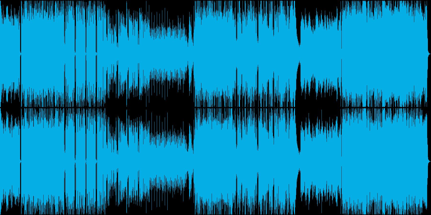 ロックテイストなトラップビートの再生済みの波形