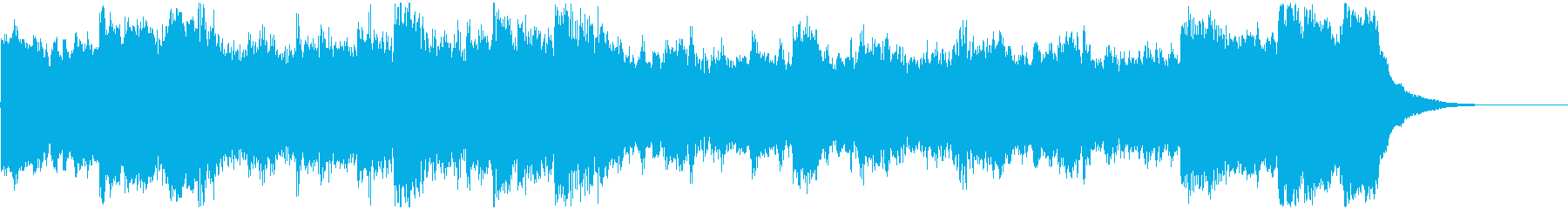 A magnificent and melodious jingle with an orchestral sound source's reproduced waveform