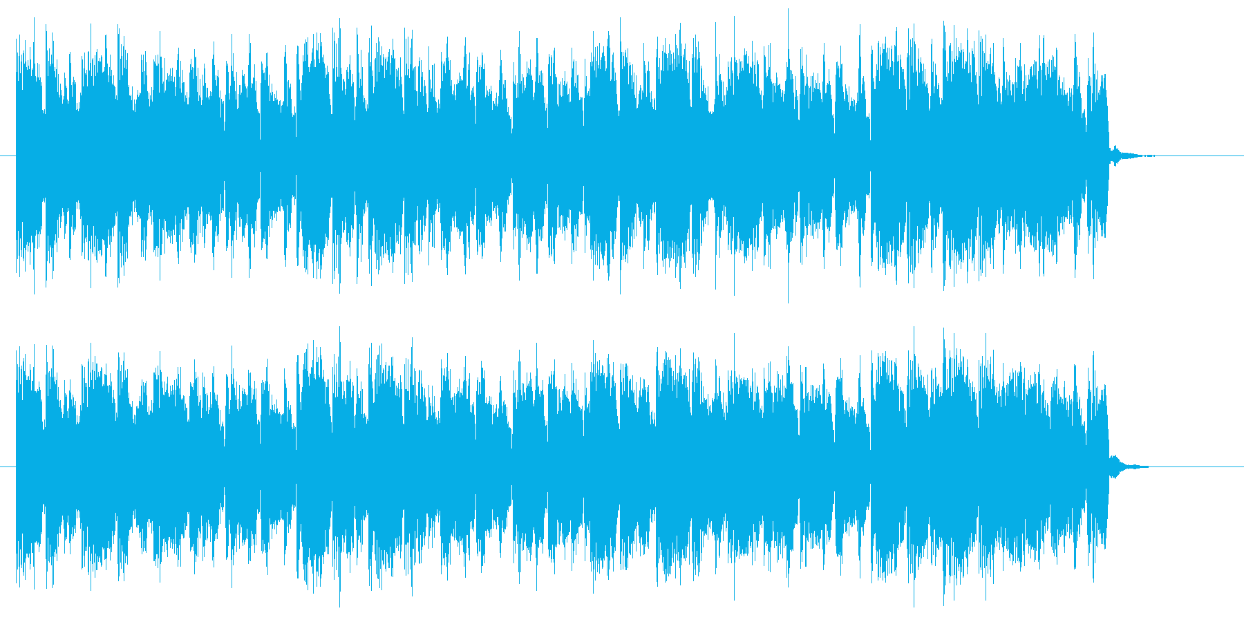 おとぎの国で聞くにぎやかな音楽の再生済みの波形