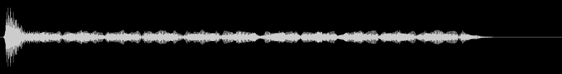 「ウォンッ」「ゥィー…」(シールド起動)の未再生の波形