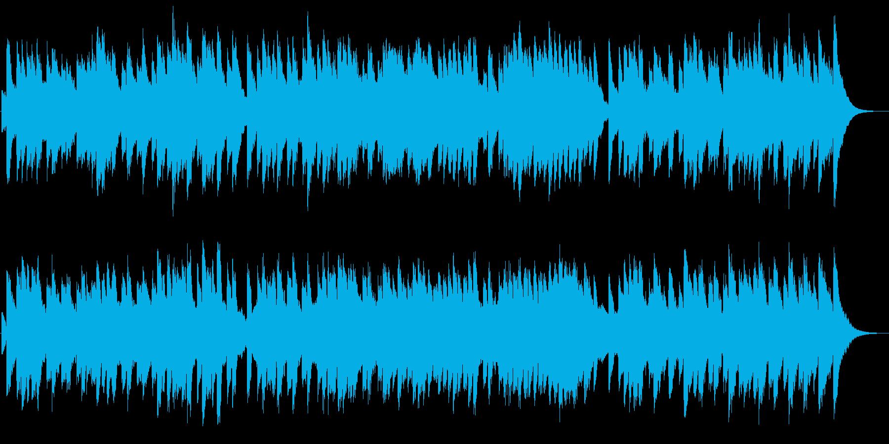 オルゴールで讃美歌。キラキラした感じの再生済みの波形