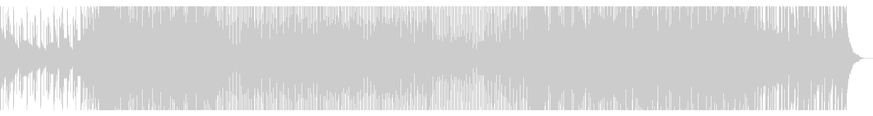 疾走感と開放感のあるシンセポップの未再生の波形