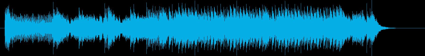 不思議で軽快なシンセポップジングルの再生済みの波形