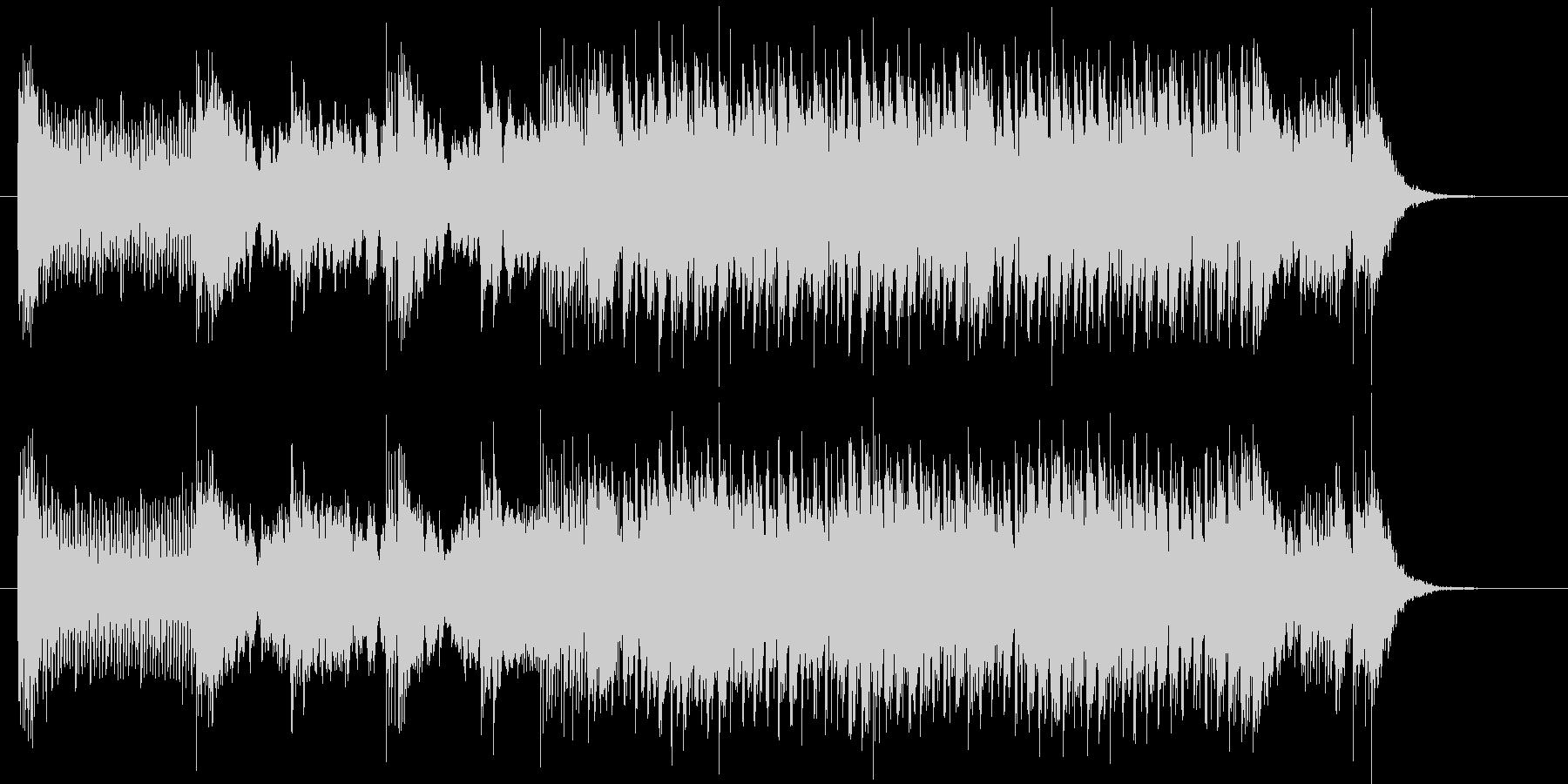 不思議で軽快なシンセポップジングルの未再生の波形