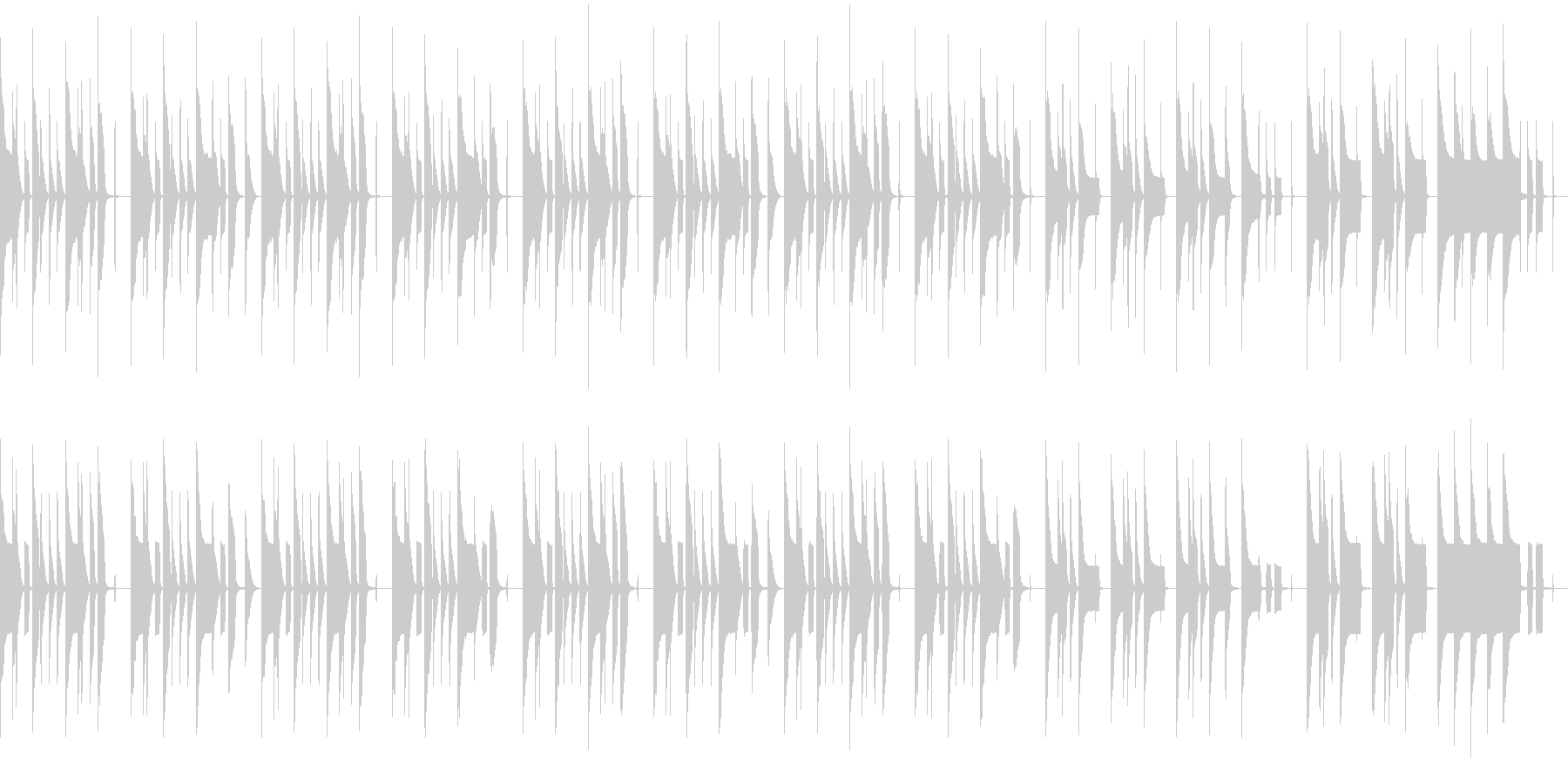 ゆるさ+センチメンタルな曲(ループ)の未再生の波形