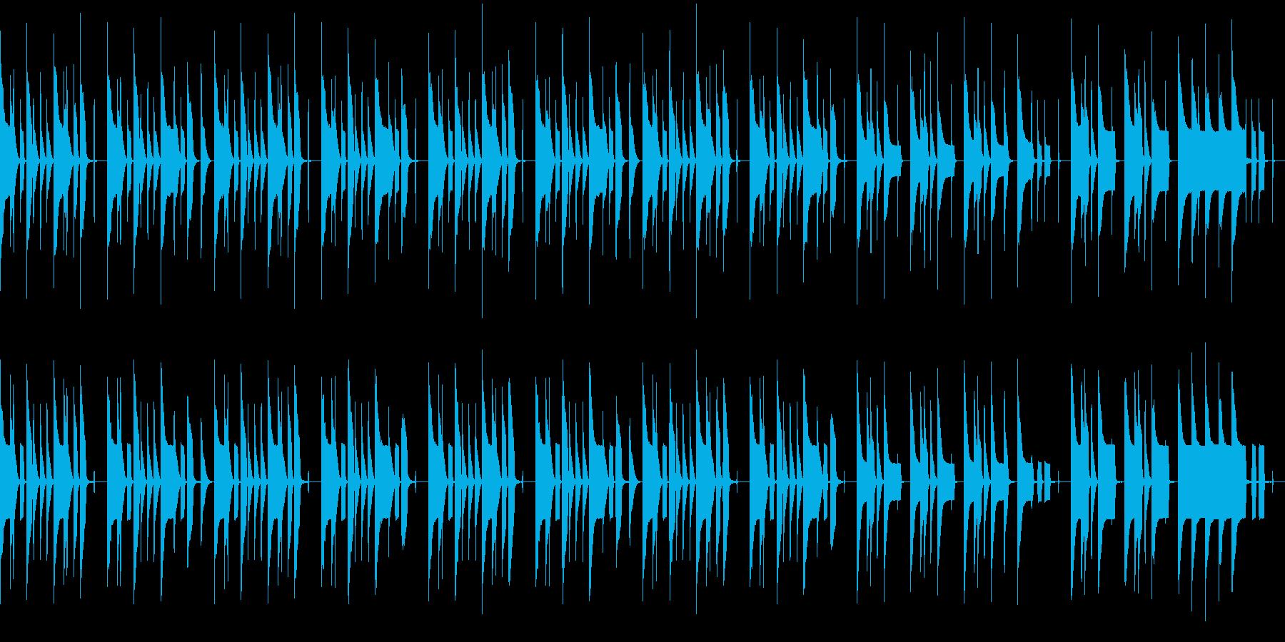 ゆるさ+センチメンタルな曲(ループ)の再生済みの波形