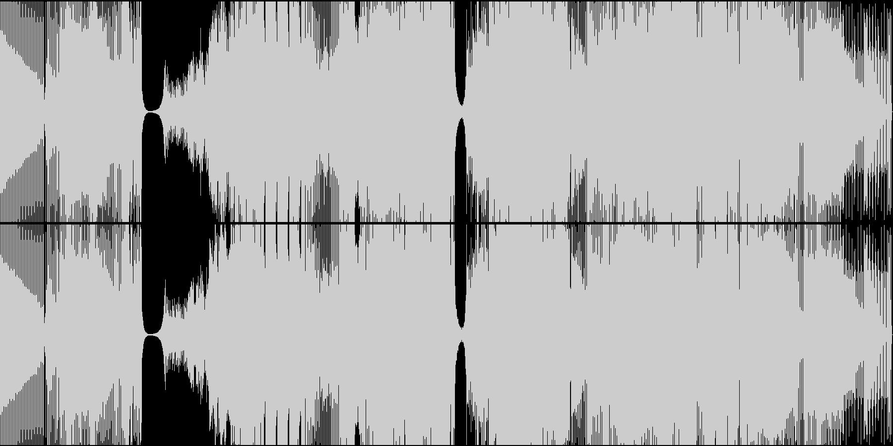 エレクトロハウス。プログレッシブ、...の未再生の波形